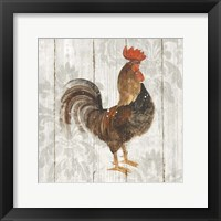 Farm Friend III on Barn Board Framed Print