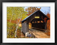 Framed Covered Bridge Waterbury Vt