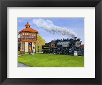 Framed Engine #90 At The Switch Tower, Strasburg Pa