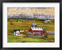 Framed Farm Country, Lancaster Co, Pa
