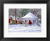 Framed Gazebo At Ellicottville, Winter