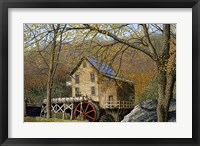Framed Glade Creek Grist Mill I Beckley, Wv