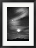 Framed Diamond Lake Moon Streak