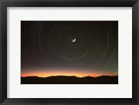 Framed Moon North Star