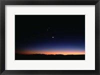 Framed Moon Planets