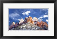 Framed Zion Mountain Clouds