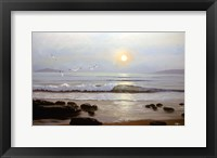 Framed Beach Sunset