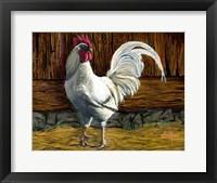 Framed Bantam Rooster