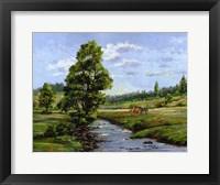 Framed Meadow & Horses