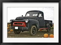 Framed Black Truck In Pumpkin Patch 3