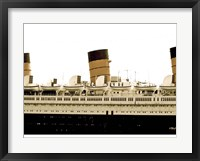 Framed RMS Queen Mary