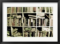 Framed Books On Shelves