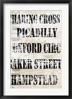 Over and Under London Transit Framed Print