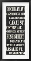Chicago Streets Framed Print