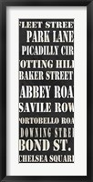 London Streets Framed Print