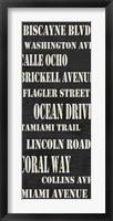 Miami Streets Framed Print