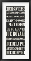 Paris Streets Framed Print