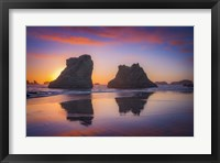 Framed Bandon Sunset