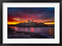 Framed Sunrise over Nubble Light