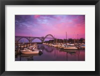 Framed Yaquina Bay Sunrise
