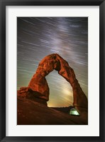 Framed Delicate Arch Star Trails
