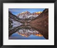 Framed Maroon Bells Alpenglow