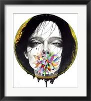 Framed Black Blossom