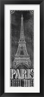 Framed Chalkboard - Eiffel Tower 2
