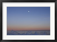 Framed Moon Over Ice
