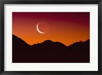 Framed Red Sky Moon