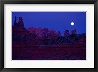 Framed Moon Over the Desert