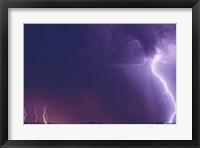 Framed Lightning in the Sky