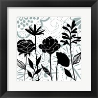 Framed Floral Mist II