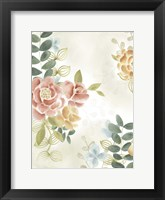 Soft Flower Collection I Framed Print