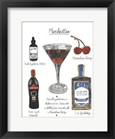 Framed Classic Cocktail - Manhattan