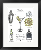 Framed Classic Cocktail - Martini