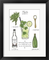 Framed Classic Cocktail - Mojito