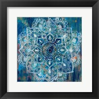 Mandala in Blue II Framed Print