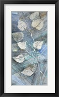 Silver Leaves I Framed Print