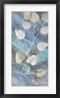 Silver Leaves II Framed Print