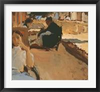 Framed Valencian Sketch no1 (Calle del Cabanal, Valencia), ca 1902