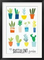 Framed My Succulent Garden