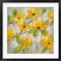 Golden Bloom II Framed Print