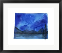 Framed Wyoming State Watercolor