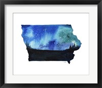 Framed Iowa State Watercolor