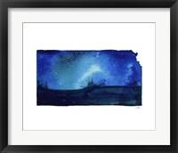Framed Kansas State Watercolor