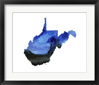 Framed West Virginia State Watercolor