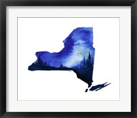 Framed New York State Watercolor