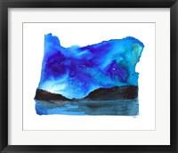 Framed Oregon State Watercolor
