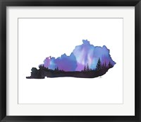 Framed Kentucky State Watercolor